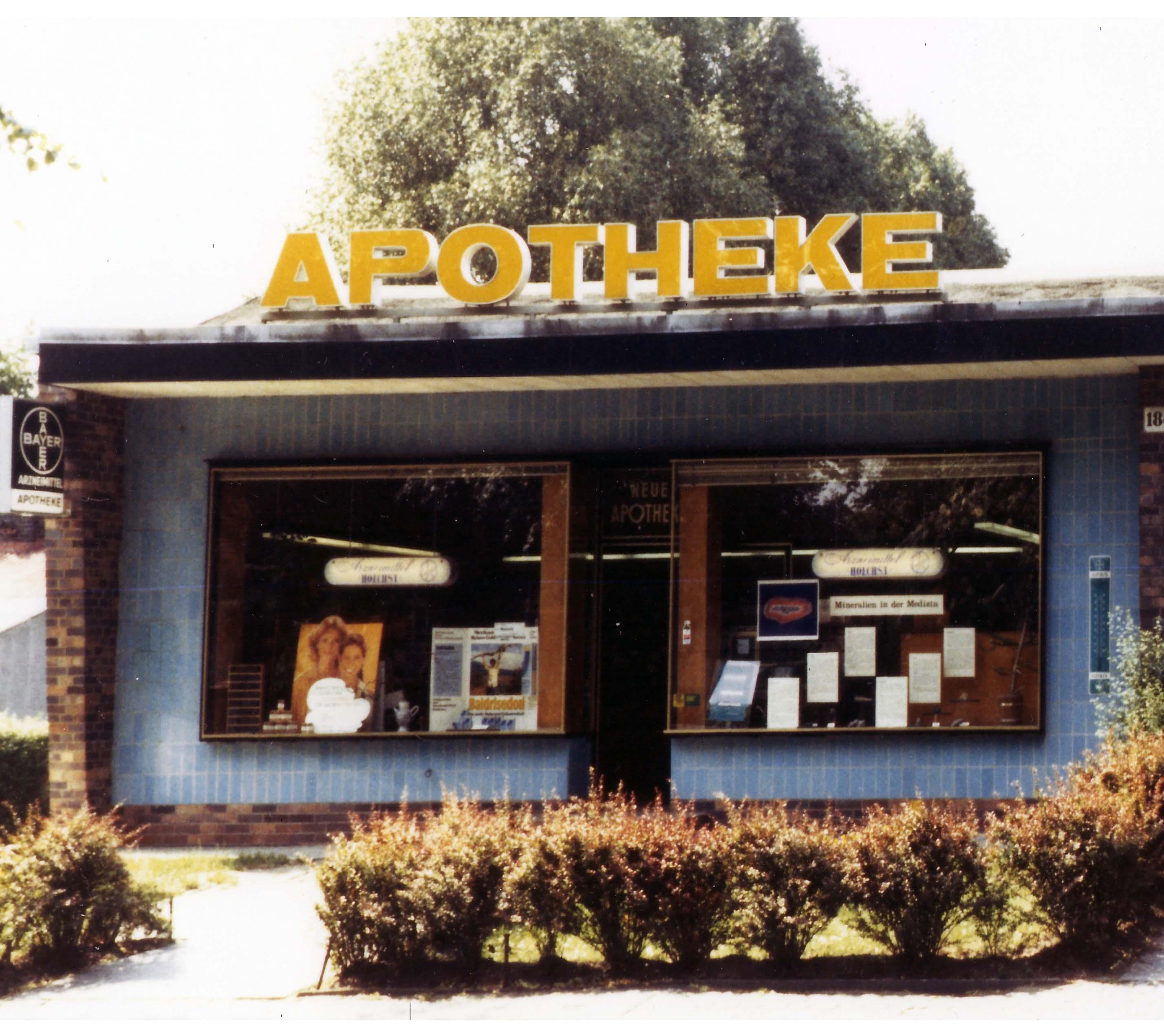 Die Apotheke vor 50 Jahren
